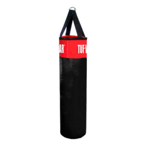 Tuf-Wear PU Punch Bag – Black/Red [3ft, 4ft, 5ft or 6ft]