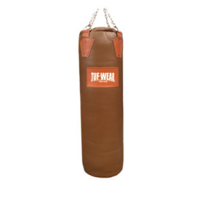Tuf-Wear 4ft Leather Punchbag – Classic Brown