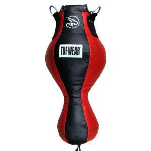 Tuf-Wear PU Uppercut Spring Punchbag – Black/Red