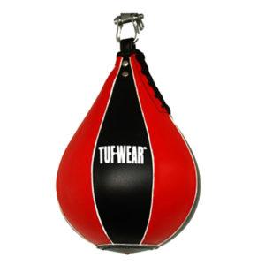 Tuf-Wear Hide Leather Speed Ball – Black/Red