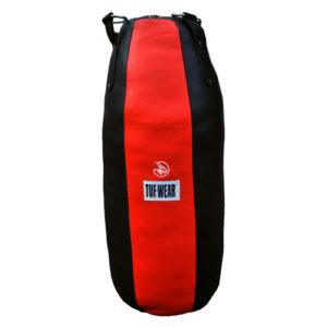 Tuf-Wear Leather Tear Drop Punchbag – Black/Red