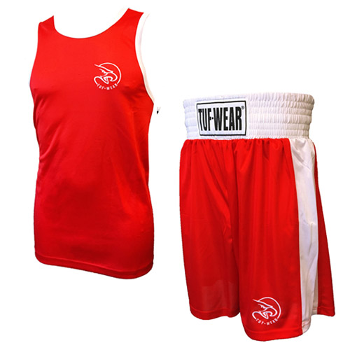 RED TUF WEAR CLUB BOXING SHORTS