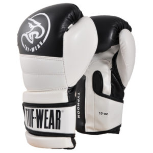 Tuf-Wear Typhoon Training Boxing Glove – Black/White 16oz