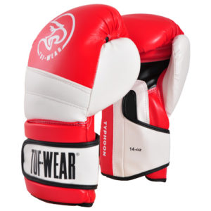 Tuf-Wear Typhoon Training Boxing Glove – Red/White 16oz