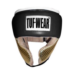 Tuf-Wear Apollo Metallic Leather Headguard with Cheek – Black/Gold