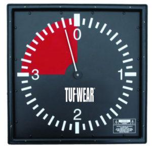 Tuf-Wear 3 minute Professional Gym Wall Clock