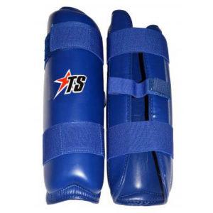 T-Sport PU Shin Pads – Blue