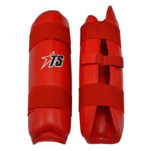 T-Sport PU Shin Pads – Red