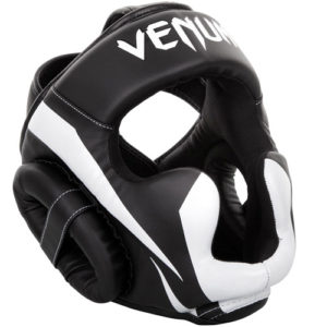 Venum Elite Cheek Headguard – Black/White