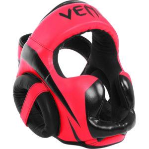 Venum Elite Cheek Headguard – Neon Pink/Black