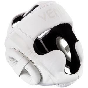 Venum Elite Cheek Headguard – White/White