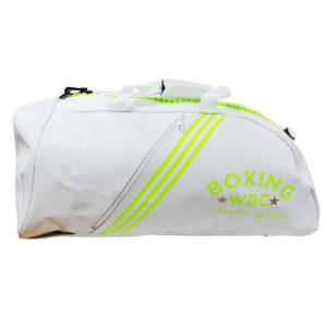 Adidas PU 2 In 1 WBC Boxing Holdall – White/Lime