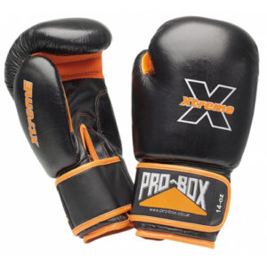 Pro-Box Xtreme Sparring Gloves – Black/Orange