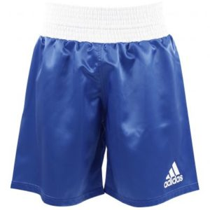 adidas Satin Boxing Shorts – Blue