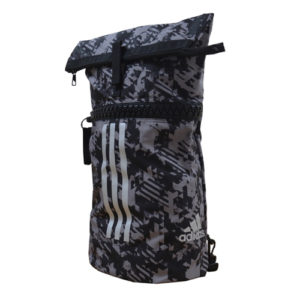 Adidas Dark Camo Combat Sports Bag / Rucksack – Grey/Black