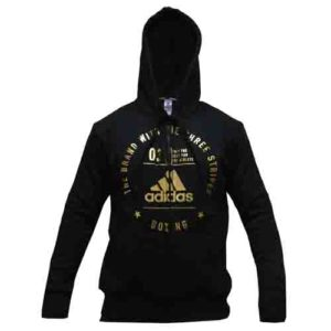 Adidas Boxing Zip Hoody Rounded Logo – Black/Gold