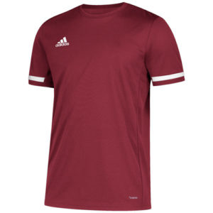 Adidas Men's T19 Short Sleeve Jersey / T-Shirt – Maroon