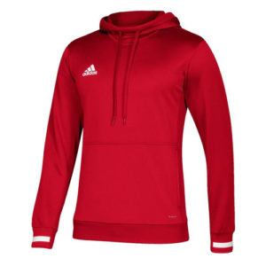 Adidas Men's T19 Hoody / Hooded Sweatshirt – Red