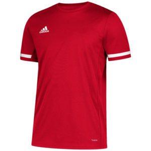 Adidas Men's T19 Short Sleeve Jersey / T-Shirt – Red