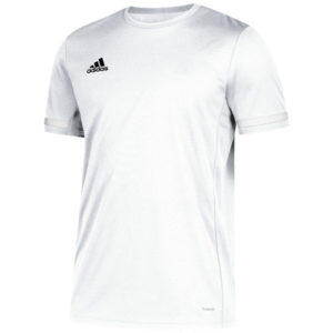 Adidas Men's T19 Short Sleeve Jersey / T-Shirt – White