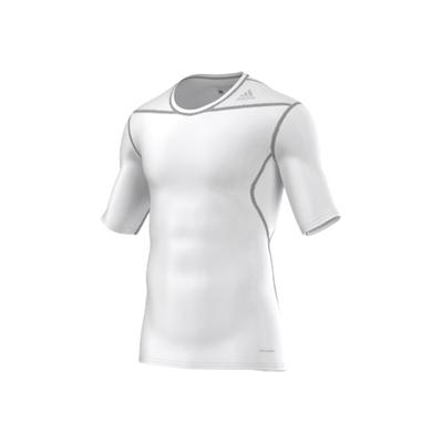 adidas Techfit Seamless Short Sleeve Tee – White