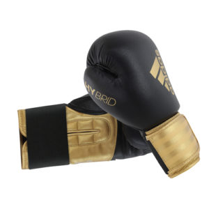 adidas Hybrid 100 Boxing Glove – Black/Gold