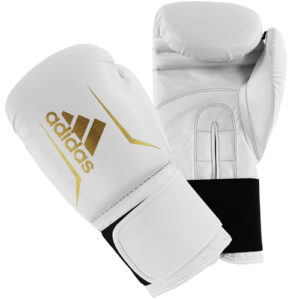 Adidas Speed 50 Boxing Gloves – White/Gold