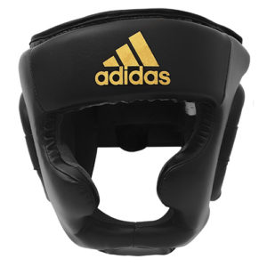 Adidas Speed Full Face Head Guard – Black/Gold