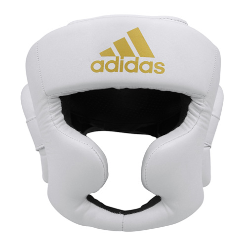 Adidas Speed Full Face Head Guard – White/Gold