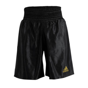 Adidas 18 Satin Boxing Shorts – Black/Gold