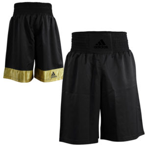 Adidas Diamond Flex Boxing Shorts – Black/Gold