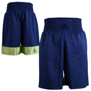 Adidas Diamond Flex Boxing Shorts – Dark Blue/Solar Yellow