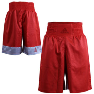 Adidas Diamond Flex Boxing Shorts – Red/White