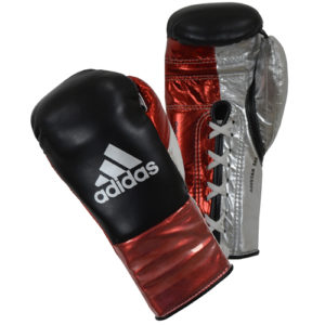 Adidas AdiStar BBBC Approved Pro Boxing Gloves – Black/Red/Silver