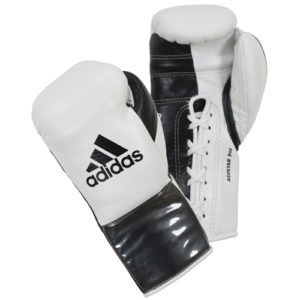 Adidas AdiStar BBBC Approved Pro Boxing Gloves – White/Black