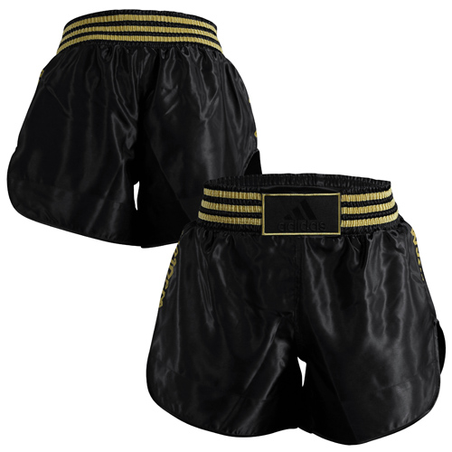 Adidas 18 Thai Boxing Shorts – Metallic Black/Gold