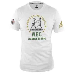 Adidas WBC Boxing T-Shirt – White/Green/Gold