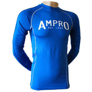 Ampro Junior Performance Base Layer Long Sleeve Top – Blue