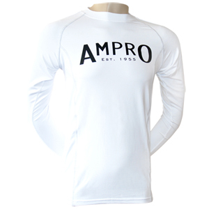 Ampro Junior Performance Base Layer Long Sleeve Top – White