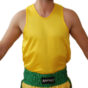 Ampro Classic Boxing Vest – Yellow [Junior & Adult, MBoys – XXL]