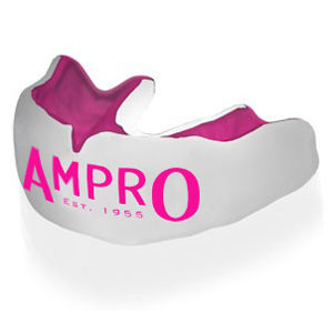 Ampro Custom Made Dentist Pro Mouthguard – Pink & White