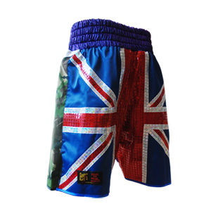 Bespoke Made Glitter Union Jack and Army Boxing Short's POA