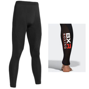 BXR Boxing Base Layer Compression Tights – Black