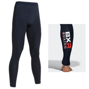 BXR Boxing Base Layer Compression Tights – Navy