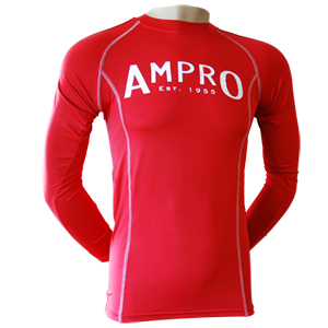 Ampro Performance Base Layer Long Sleeve Top – Red