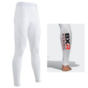 BXR Boxing Base Layer Compression Tights – White