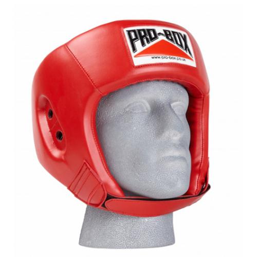 Pro-Box 'Base Spar' PU Sparing Headguard – Red