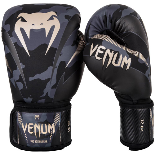 Venum Impact Boxing Gloves – Dark Camo/Sand