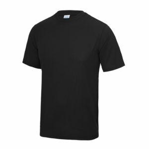 UNBRANDED Junior/Kids Lightweight Cool T-Shirt – Black