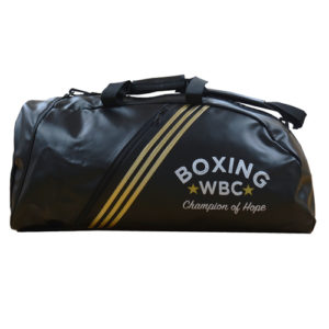 Adidas PU 2 In 1 WBC Boxing Holdall – Black/Gold